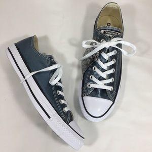 CONVERSE Metallic Teal Low Top Sneakers NEW